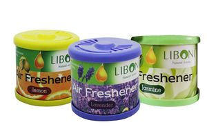 Liboni Natural Car Air Freshener/Perfume Set Of 3-Lavender+Lemon+Jasmine