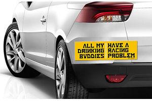 Speedwav Quirky Car Bumper Sticker-ALL MY DRINKING BUDDIES