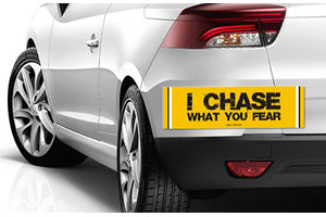 Speedwav Quirky Car Bumper Sticker-I CHASE WHAT YOU FEAR