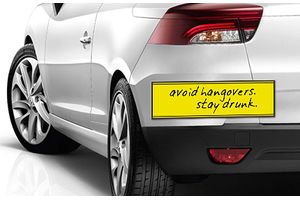 Speedwav Quirky Car Bumper Sticker-AVOID HANGOVERS