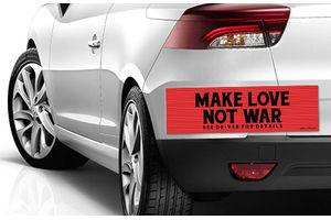 Speedwav Quirky Car Bumper Sticker-MAKE LOVE NOT WAR
