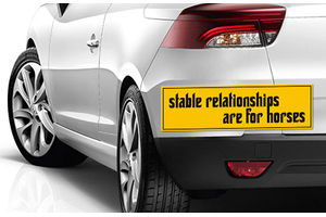 Speedwav Quirky Car Bumper Sticker-STABLE RELATIONSHIPS ARE FOR HORSES
