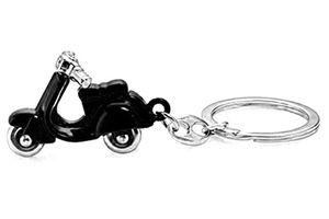 Accedre Designer Black Scooter Metal Keychain For Car/Bike