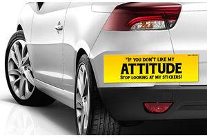 Speedwav Quirky Car Bumper Sticker-IF YOU Dont LIKE MY ATTITUDE