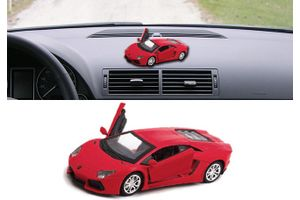Lamborghini Aventador 3 in 1 Car Perfume With Pull Back Action-RED