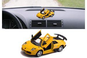 Lamborghini Murcielago R-SV 3 in 1 Car Perfume With Pull Back Action-YELLOW
