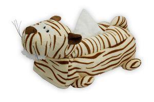 Speedwav Premium Soft Touch Car Tissue Box Cover Tiger - Beige