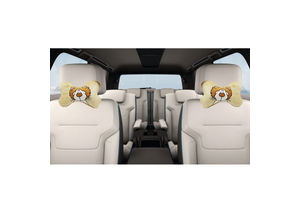 Speedwav Lion Design Soft Touch Car Seat Neck Cushion Pillow - Beige Colour