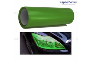 Speedwav Car Headlight Film 1.5m Roll Set of 2-Green