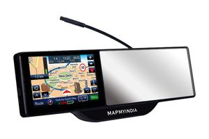 Mapmyindia Car 12.7cm Smart Mirror Touch Screen GPS Navigation Tracking Device
