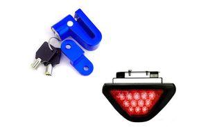 Speedwav Bike Disc Break Security Lock + 12 LED Brake Light-Red