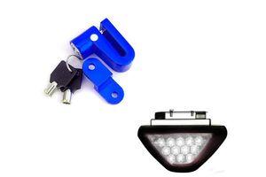 Speedwav Bike Disc Break Security Lock + 12 LED Brake Light-White