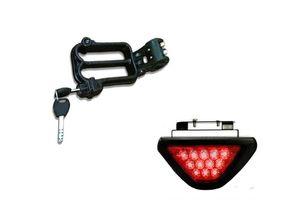 Speedwav Bike Helmet Security Lock + 12 LED Brake Light-Red