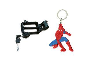 Speedwav Bike Helmet Security Lock + Spiderman Rubber Keychain