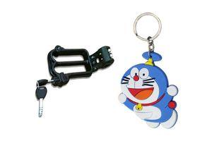 Speedwav Bike Helmet Security Lock + Doraemon Rubber Keychain