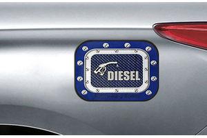 Speedwav Car Fuel Lid Vinyl Diesel Sticker Blue-SQUARE