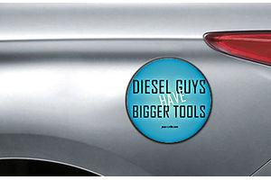 Speedwav Quirky Car Fuel Lid Sticker ROUND-Diesel GUYS HAVE BIGGER TOOLS