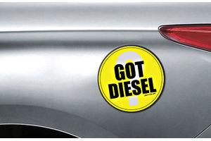 Speedwav Quirky Car Fuel Lid Sticker ROUND-GOT DIESEL ?