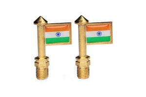 Speedwav Indian Flag Bike Handle Bar Set Of 2