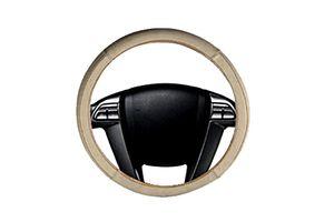 Speedwav Comfy Leatherette Car Steering Wheel Cover L-Beige