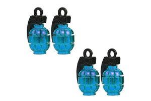 Speedwav Grenade Style Car Tyre Valve Caps Set Of 4 - Blue