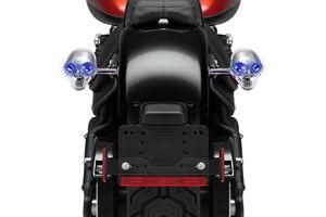 Speedwav BLUE LED CHROME Skull Bike Indicators Set of 2