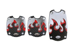 Speedwav Car Driving Pedals SC-397 Set Of 3-Red Flame