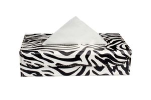 Speedwav Zebra Tissue Box Holder - Black & White
