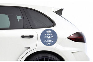 Speedwav Rubber Badge-KEEP CALM AND CARRY ON