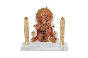 Speedwav Car Dashboard God Idol- Hanuman Ji Golden Pillar