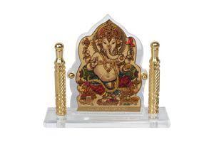 Speedwav Car Dashboard God Idol- Ganesh Ji Golden Pillar