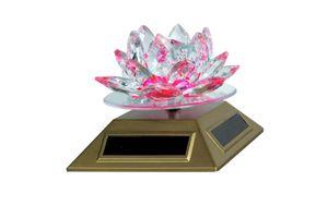 Speedwav Revolving Solar Powered Decorative Crystal Lotus