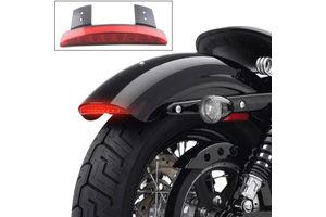 Chopped Fender Edge LED Tail Light Red for Harley Davidson