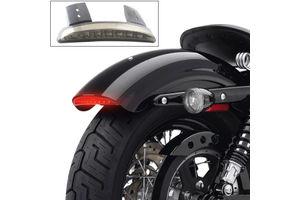 Chopped Fender Edge LED Tail Light Smoked for Harley Davidson
