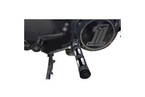Edge Cut Footpegs Set of 2 Black for Harley Davidson