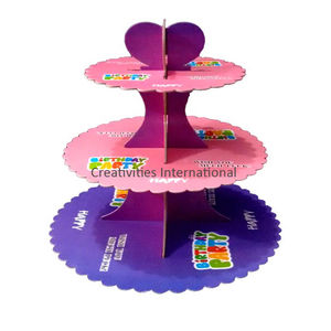 BIRTHDAY PARTY CARDBOARD CUPCAKE STAND