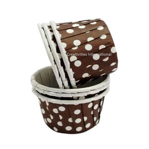 Polka Dot Design Brown Cup Cake Liner (Small) -Ready To Bake