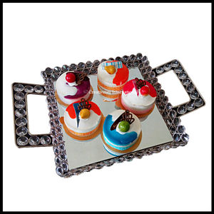 Crystal Square Platters