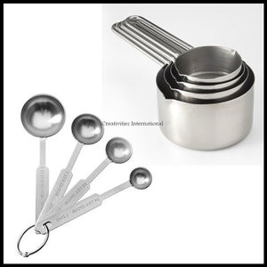 Combo Of Steel Measuring Cups & Spoons