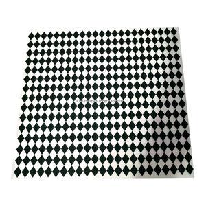 Black checkers Board Transfer sheet