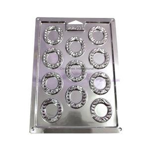 Designer Round Shape Plastic Chocolate Garnishing Mat