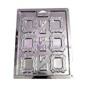 Mirror Frame Shape Plastic Chocolate Garnishing Mat