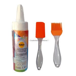 Combo of Cake Decor Color-Yellow (cake spray), Silicone Brush & Spatula