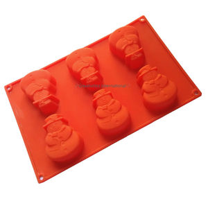 Christmas Snowman Silicone muffin Mould