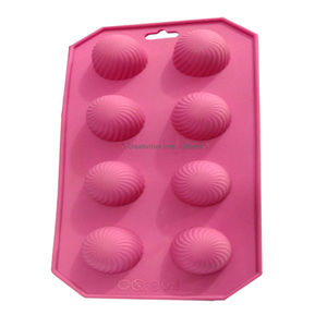 Small shell shape silicone chocolate mould-for round chocolate cups