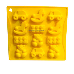 Teddy Playing Game Silicone Chocolate Mould