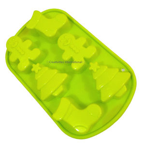 Christmas Tree Shoe Teddy Silicone muffin mould