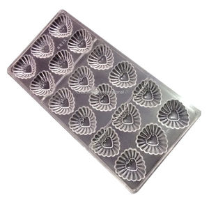 Polycarbonate chocolate mold Christmas Heart Liner Shape