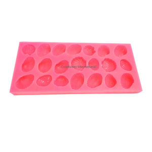 Silicone marzipan mould- shell