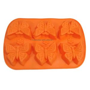 6 Cavity Butterfly Silicone Muffin Mold